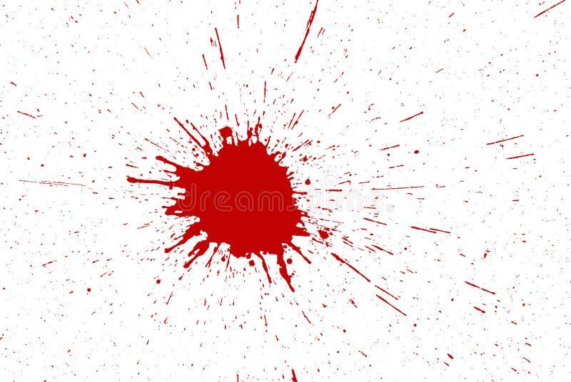 Rode inktplonsen stock afbeeldingen