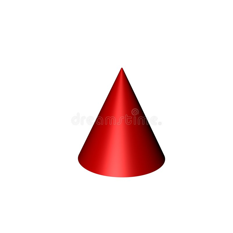 Rode kegel royalty-vrije illustratie
