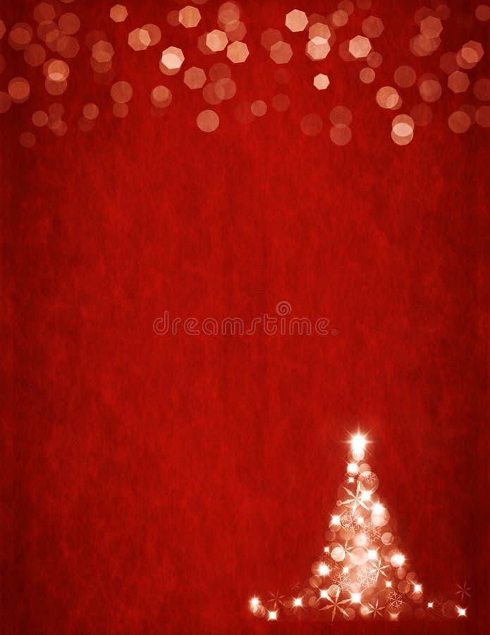 Rode Kerstboom Als achtergrond en bokeh de brievengrootte van de V.S. stock afbeeldingen