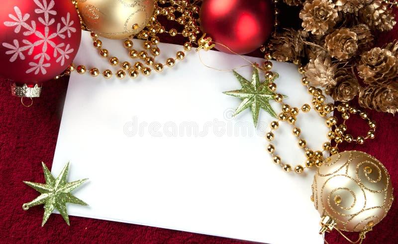 Rode Kerstkaart stock foto