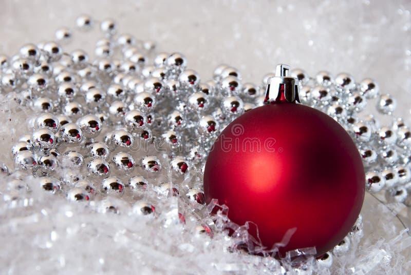 Rode Kerstmis royalty-vrije stock foto