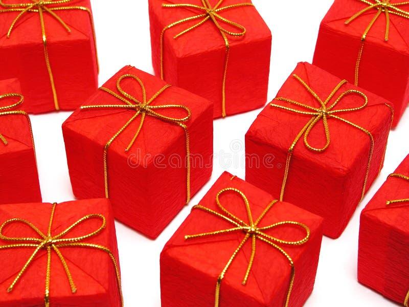 Rode Kerstmis stelt voor royalty-vrije stock afbeelding