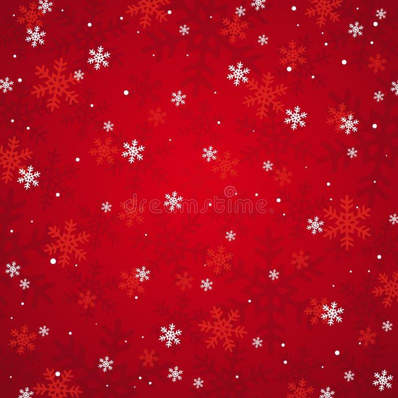 Rode Kerstmisachtergrond,   vector illustratie