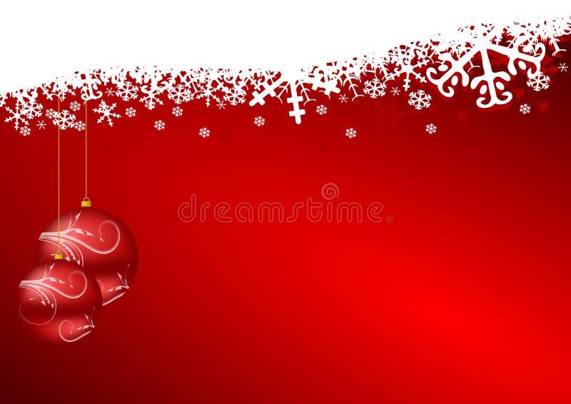 Rode Kerstmisachtergrond royalty-vrije illustratie