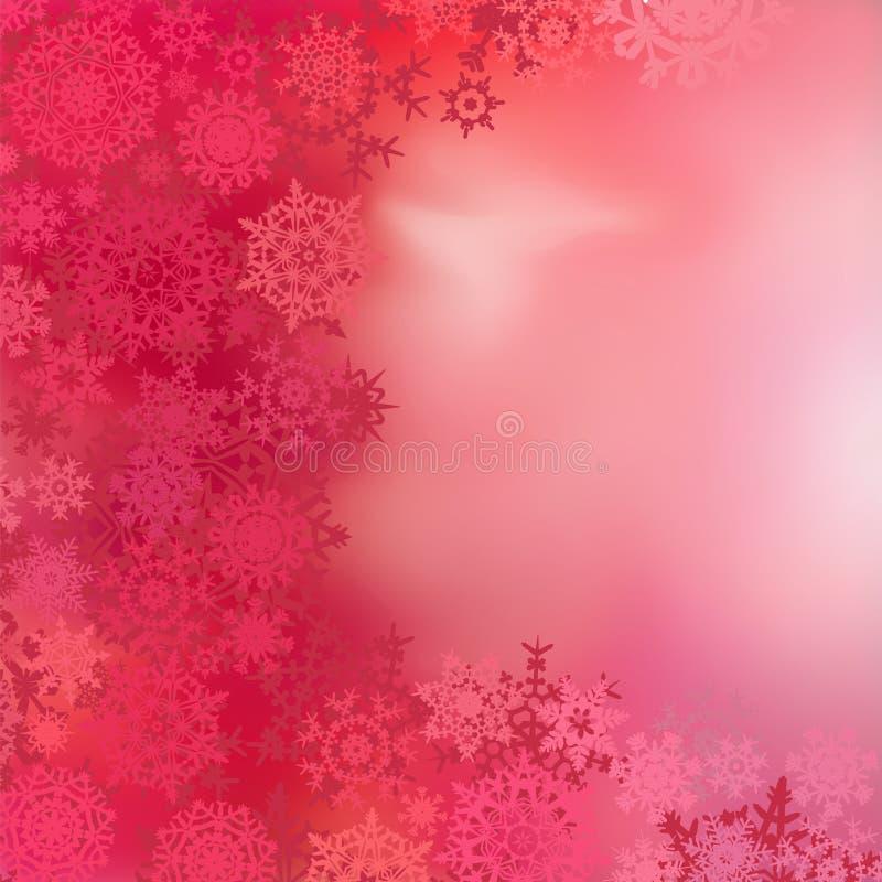 Rode Kerstmisachtergrond met snuisterijen. EPS 8 stock illustratie
