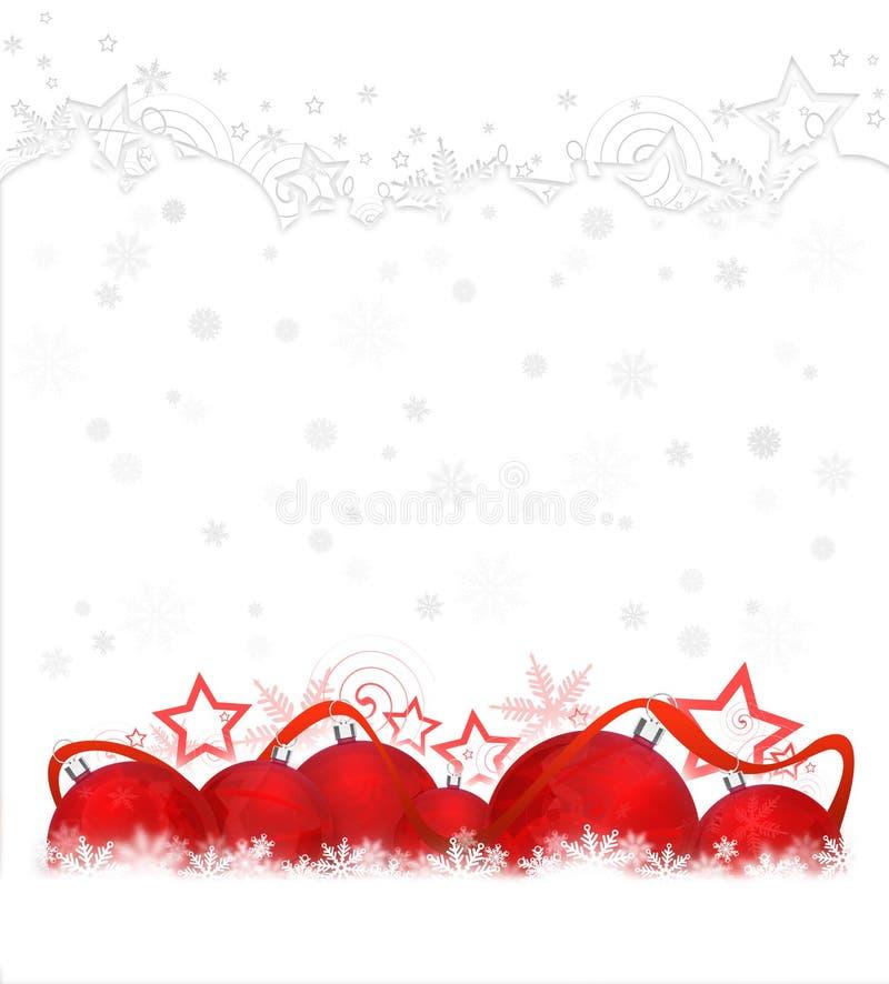 Rode Kerstmisballen vector illustratie