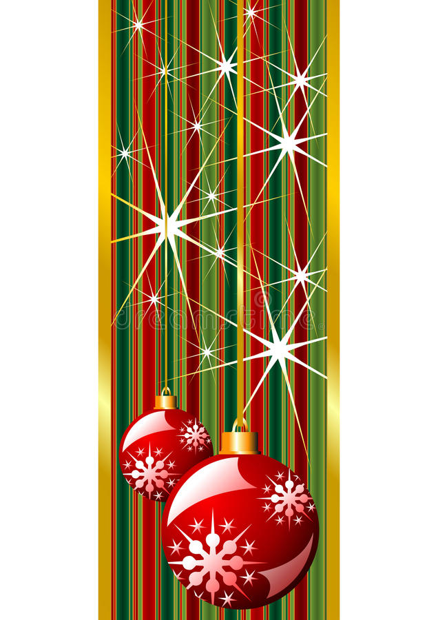 Rode Kerstmisbanner vector illustratie
