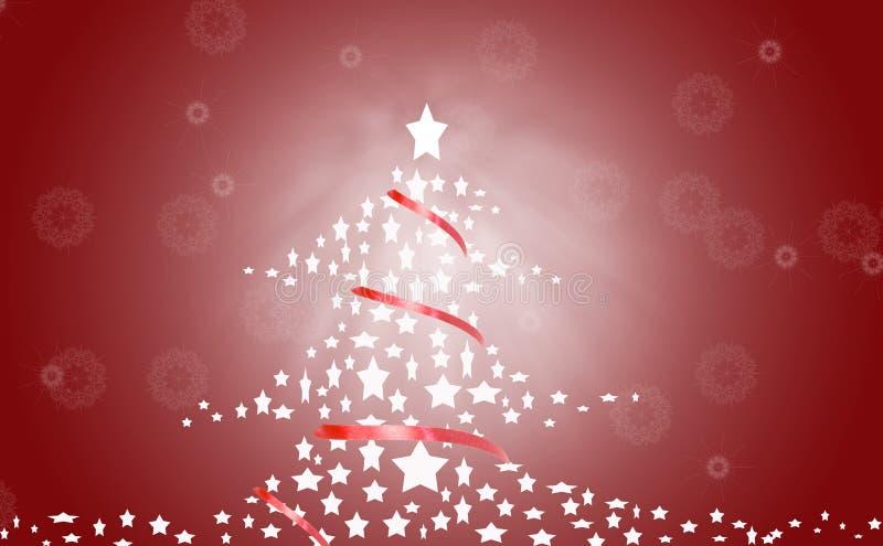 Rode Kerstmisboom royalty-vrije illustratie