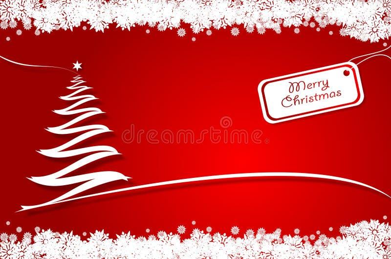 Rode Kerstmisboom stock illustratie