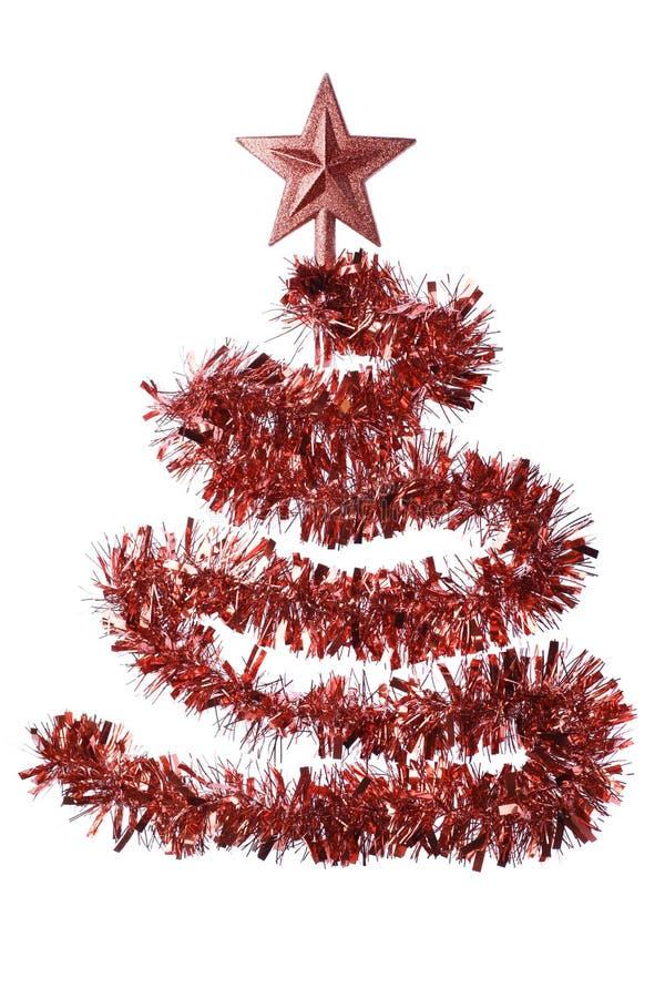 Rode Kerstmisboom royalty-vrije stock afbeeldingen