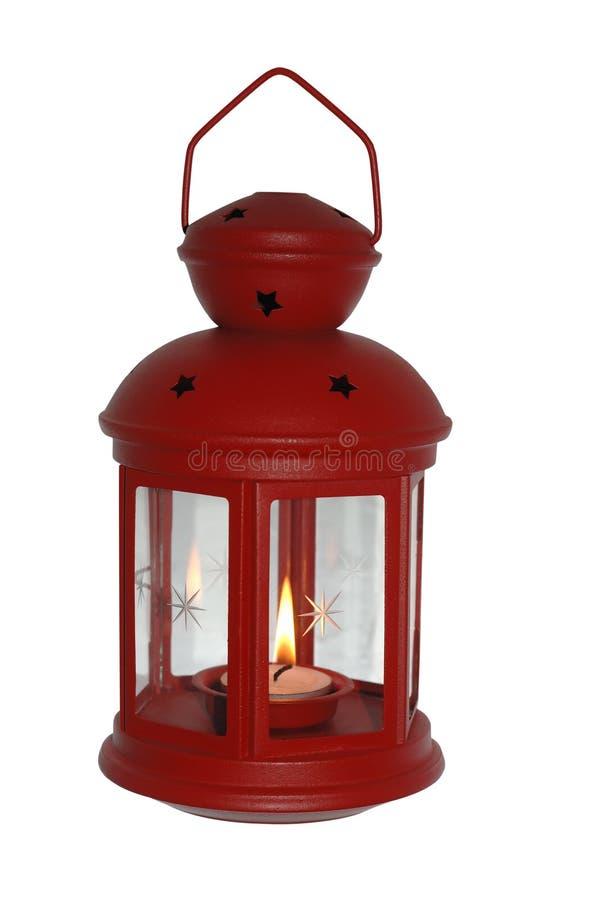 Rode Kerstmislantaarn royalty-vrije stock foto