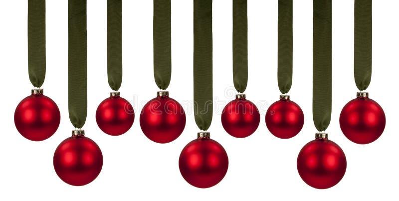 Rode Kerstmisornamenten stock foto's