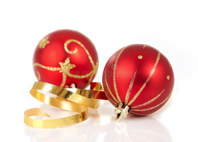Rode Kerstmissnuisterijen royalty-vrije stock foto's