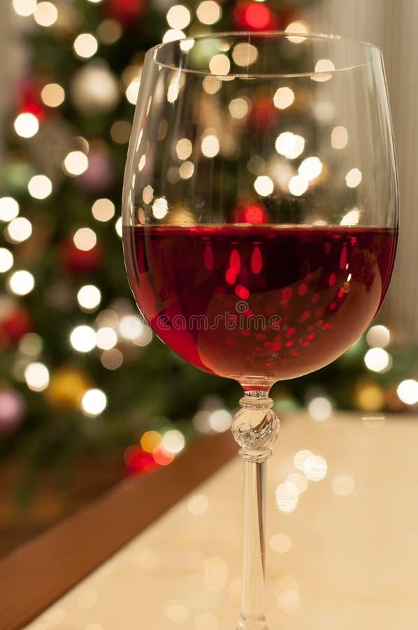 Rode Kerstmiswijn royalty-vrije stock afbeeldingen
