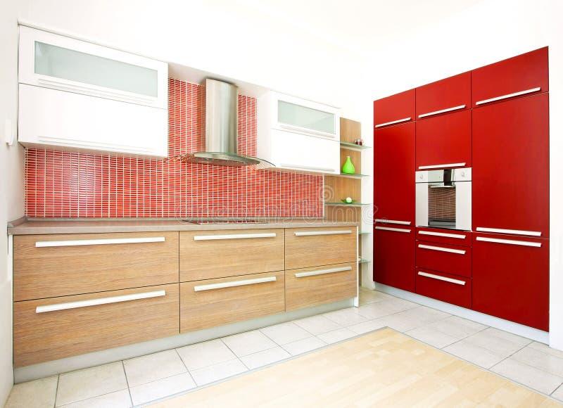 Rode keukenhoek 2 stock fotografie