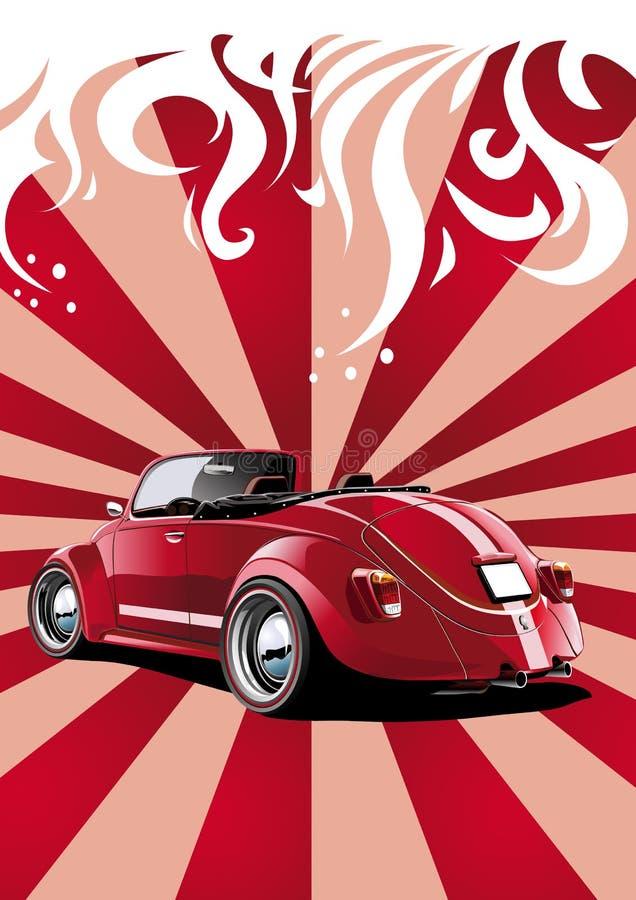 Rode klassieke convertibel royalty-vrije illustratie