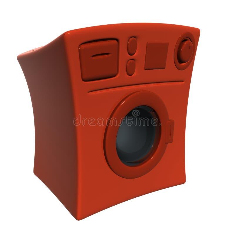 Rode klerenwasmachine stock illustratie
