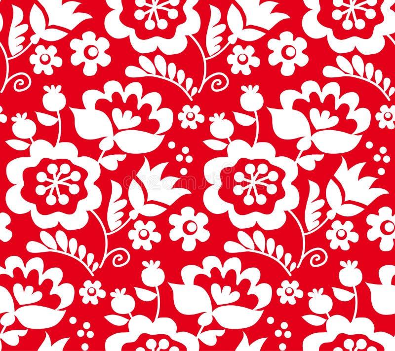 Rode kleuren traditioneel Europees Oekraïens ornament r stock illustratie
