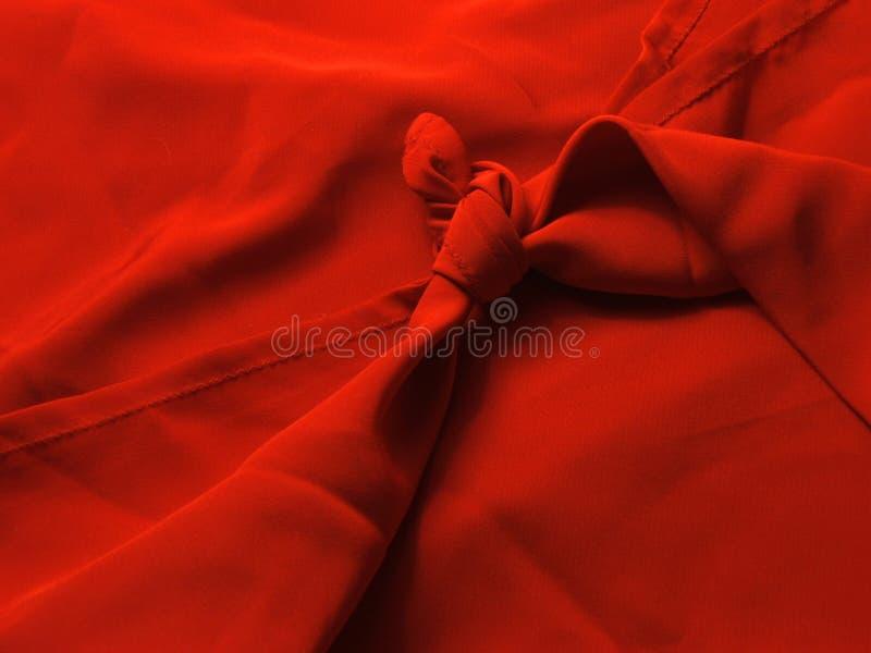 Rode knoop royalty-vrije stock foto