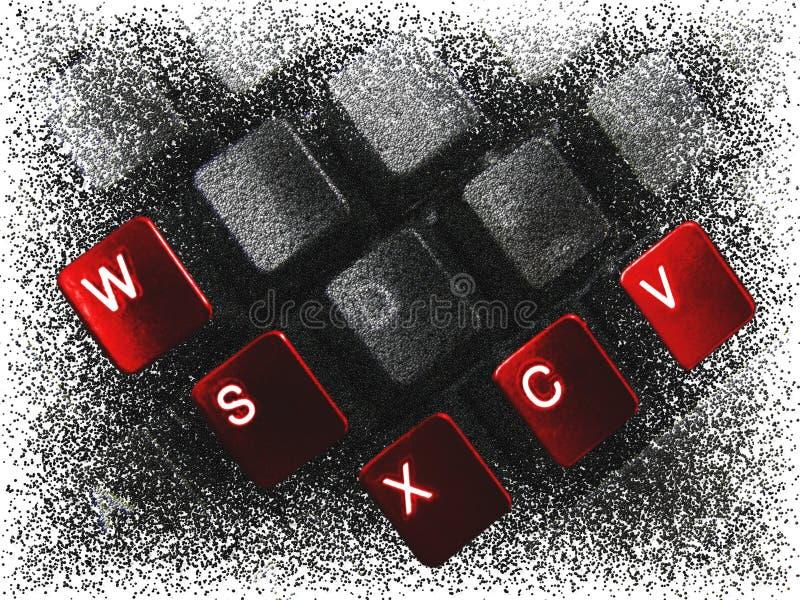 Rode knopen 2 stock illustratie