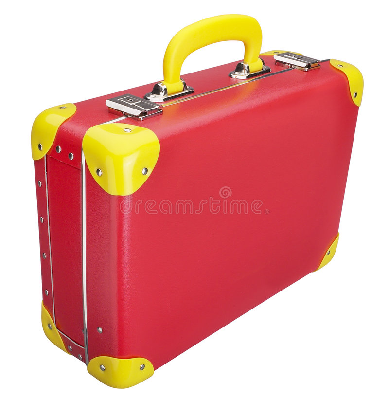 Rode Koffer stock afbeelding