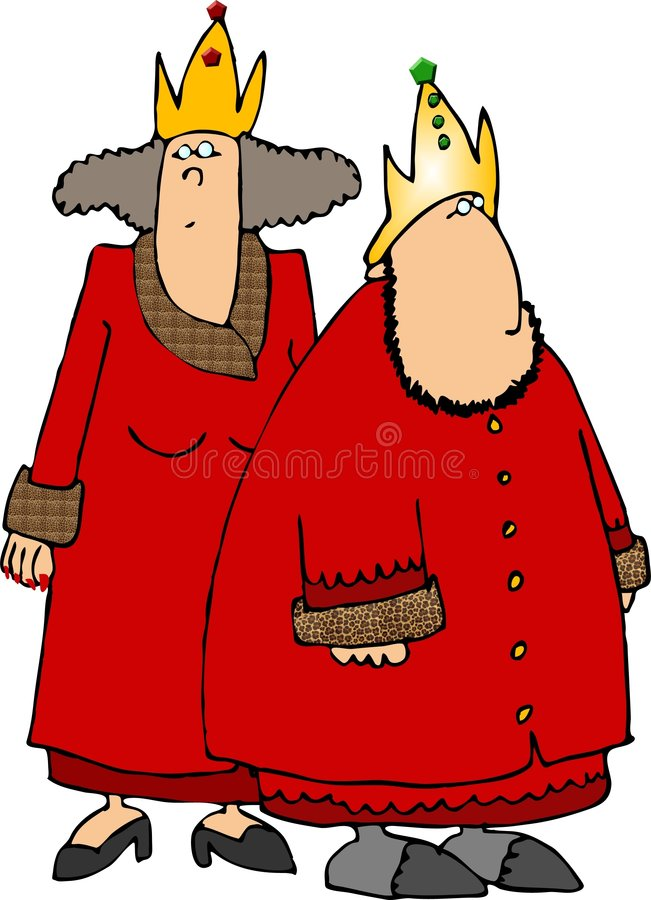 Download Rode Koning & Koningin stock illustratie. Illustratie bestaande uit kerel - 292061
