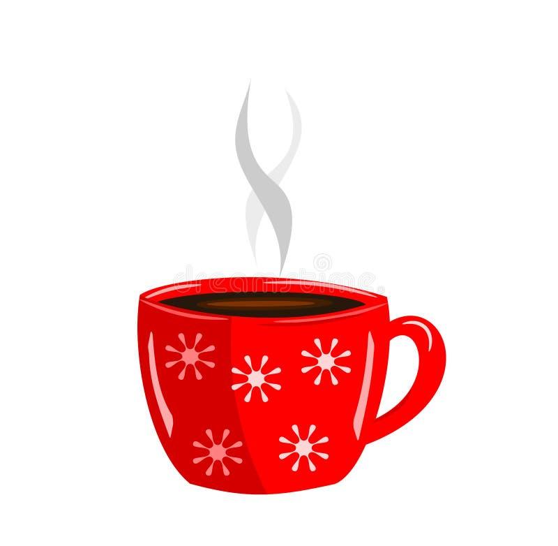 Rode kop van koffie stock illustratie