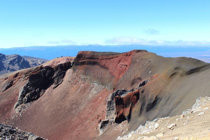 Rode krater, Nieuw Zeeland royalty-vrije stock foto's