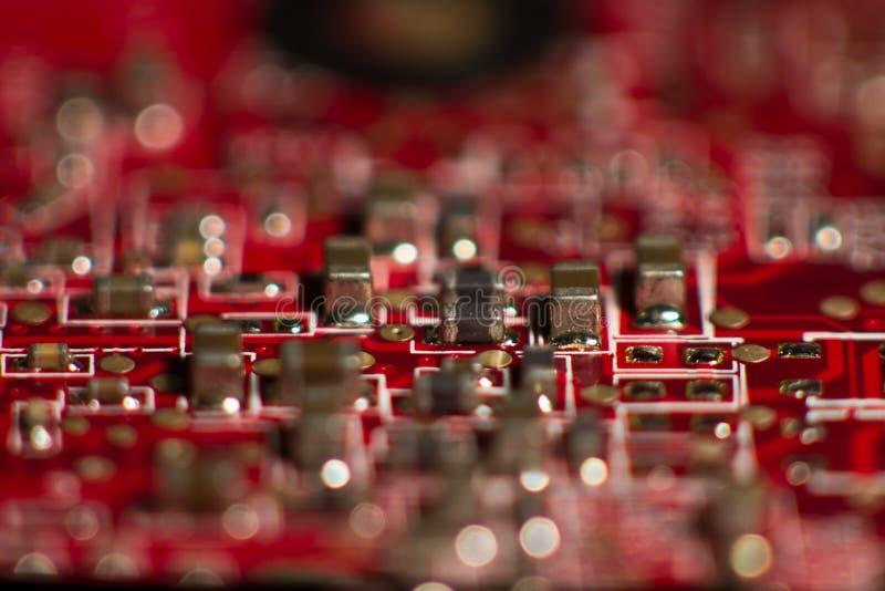 Rode kringsstad royalty-vrije stock afbeelding