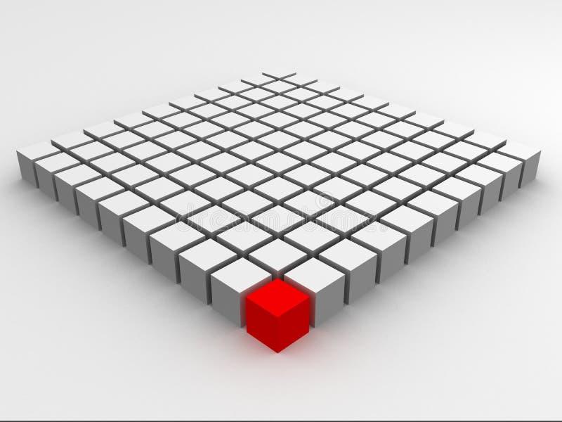 Rode kubus royalty-vrije illustratie