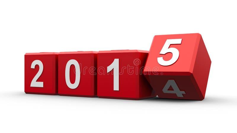 Rode kubussen 2015 stock illustratie
