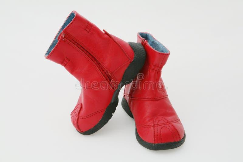 Rode laarzen stock foto's