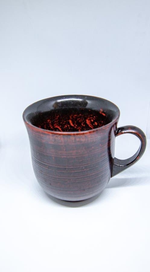 Rode lacquerwarekop royalty-vrije stock fotografie