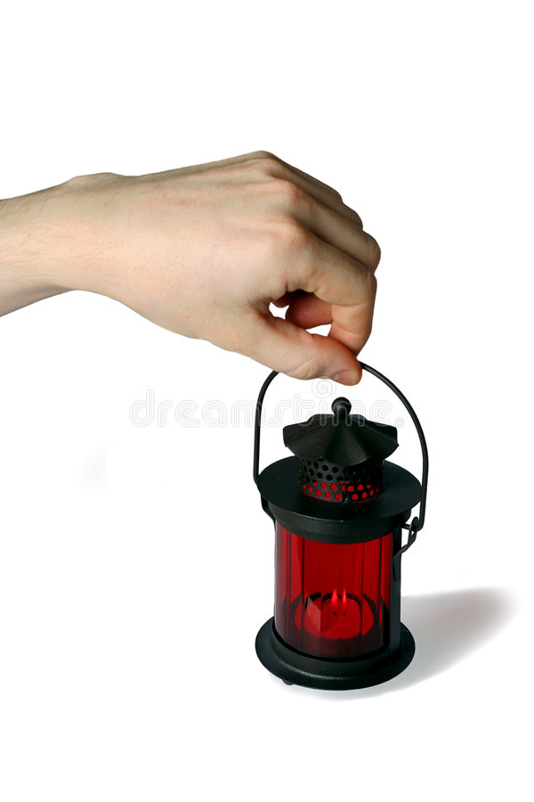 Rode lamp royalty-vrije stock afbeelding