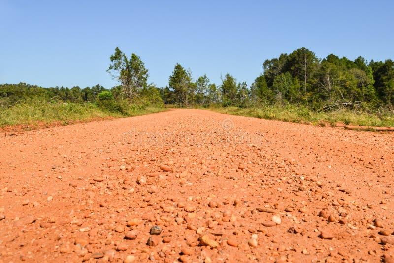 Rode landweg in Alabama royalty-vrije stock foto