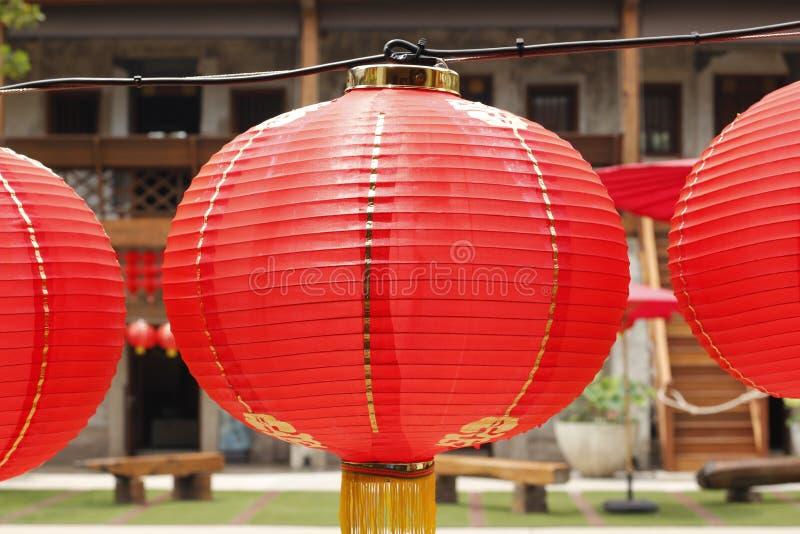 Rode Lantaarn in Chinese stijl royalty-vrije stock fotografie