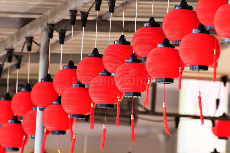 Rode lantaarns royalty-vrije stock foto's