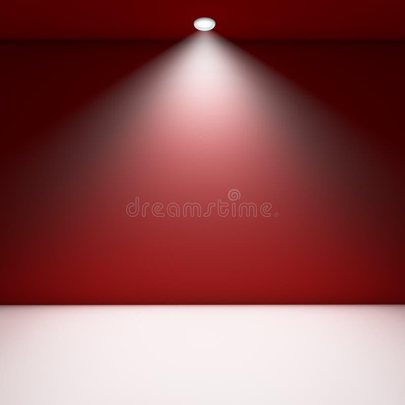 Rode lege ruimte. royalty-vrije illustratie