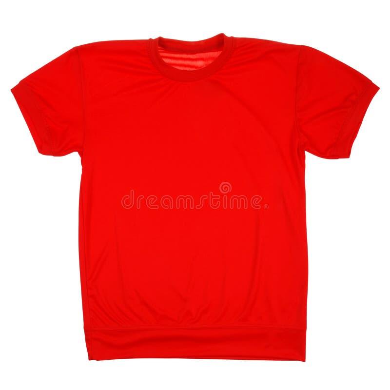 Rode lege t-shirt het Knippen weg royalty-vrije stock foto's
