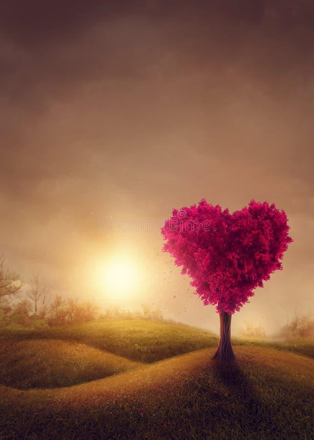 Rode liefdesboom royalty-vrije stock foto's