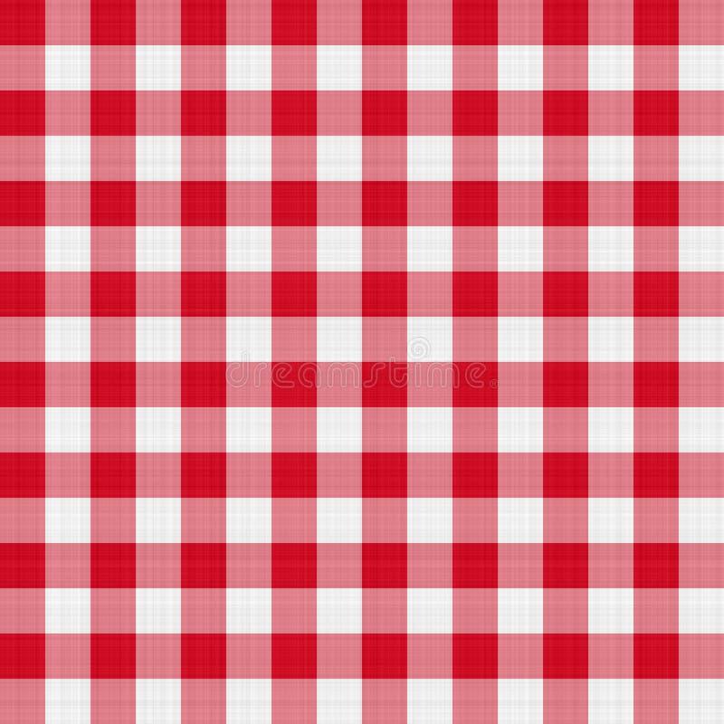 Rode lijstdoek royalty-vrije illustratie