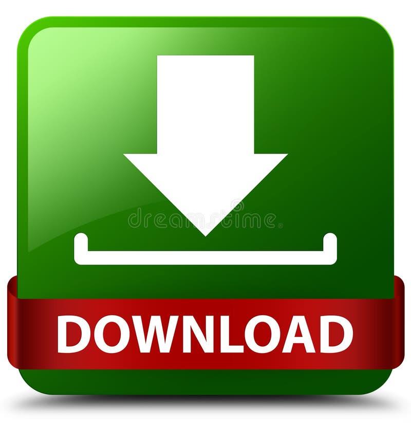 Rode lint van de download het groene vierkante knoop in midden stock illustratie