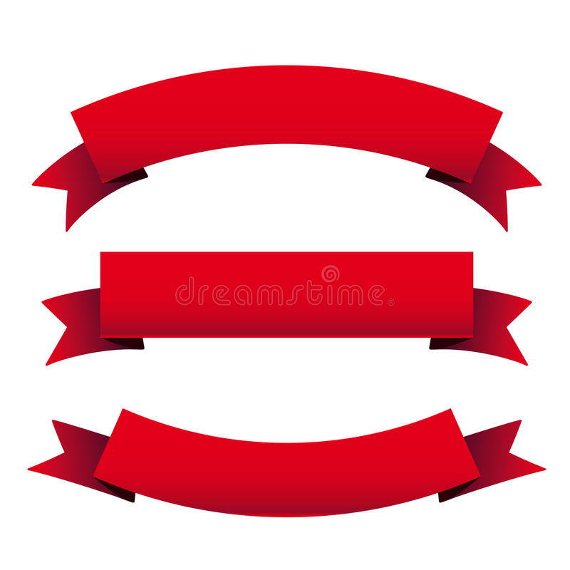 Rode lintreeks royalty-vrije illustratie