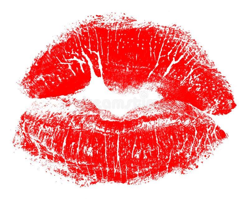 Rode lippen stock foto's