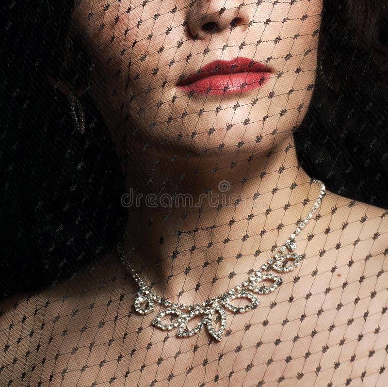 Rode lippen royalty-vrije stock foto's