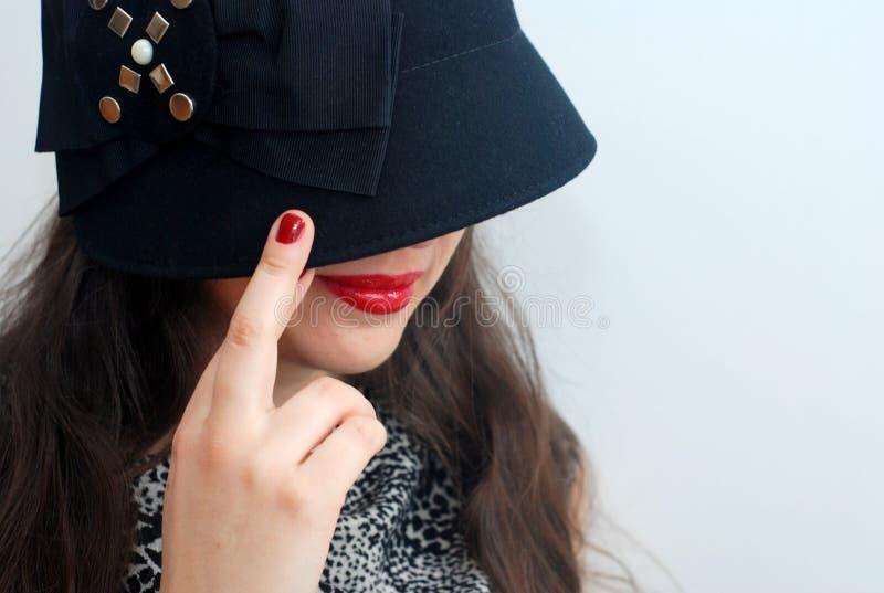 Rode lippenstift en sigar royalty-vrije stock foto's