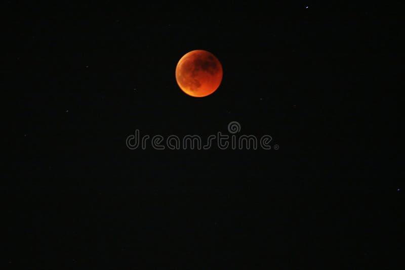 Rode maan stock fotografie