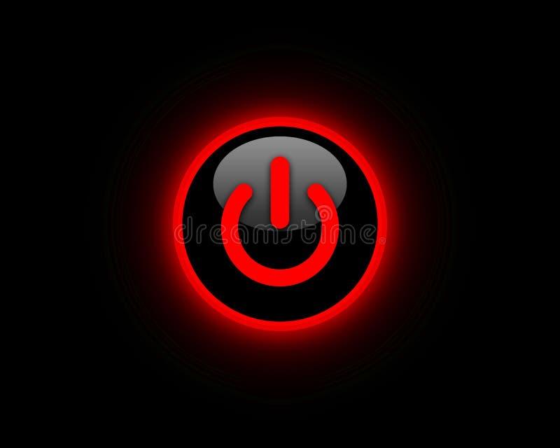 Rode machtsknoop stock illustratie
