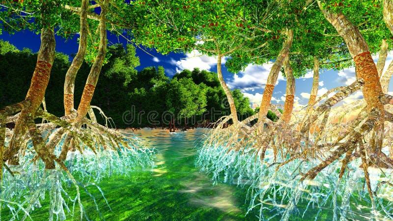 Rode Mangroven royalty-vrije illustratie