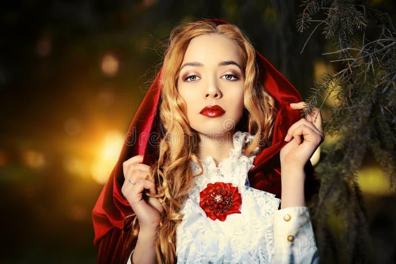 Rode mantel royalty-vrije stock foto's